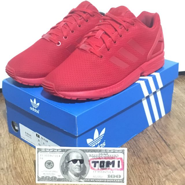 Adidas Zx Flux Triple Red