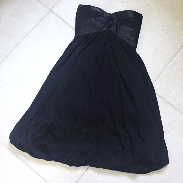Australian Brand Strapless Black Dress