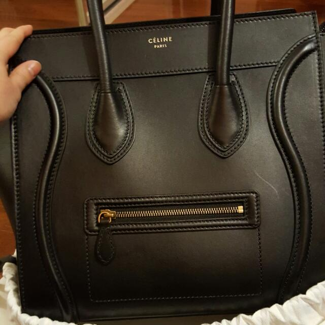 Authentic Celine Mini Luggage Tote