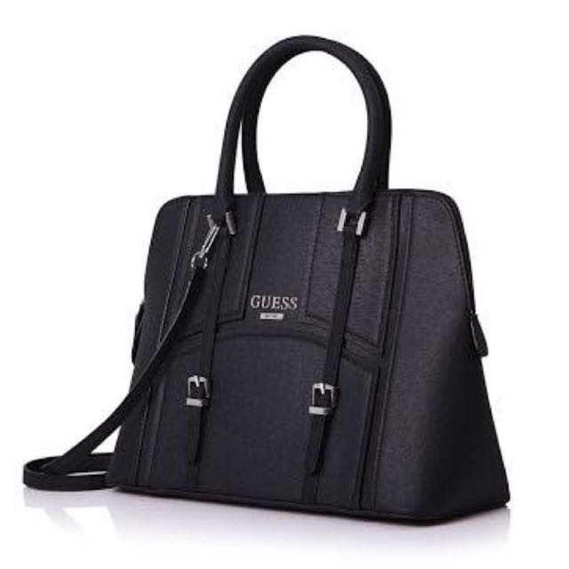 Authentic Guess Black Leather Handbag
