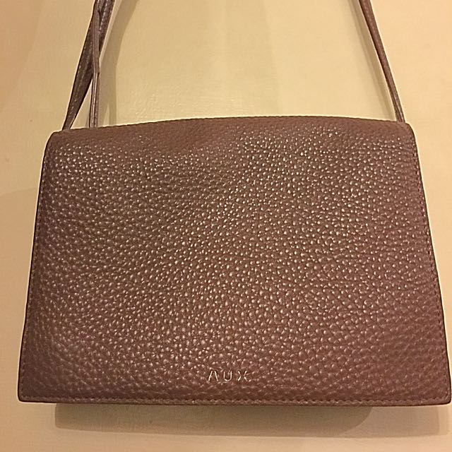 Auxiliary (Aritzia) Brown Leather Cross Body Bag