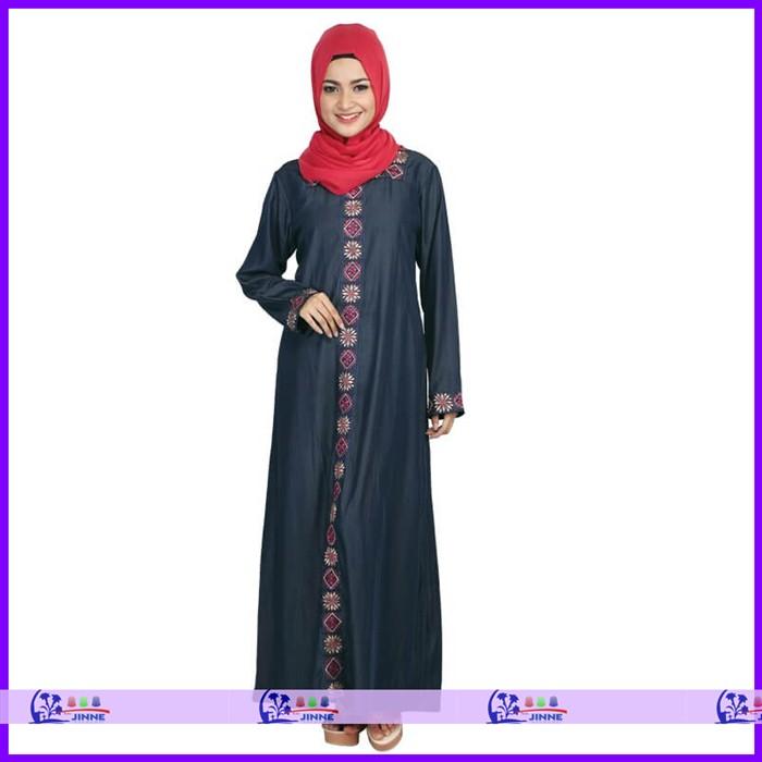 Baju Gamis Cewe Biru Navy Rzris 035 Hijab Jilbab Gaun Muslim Syari