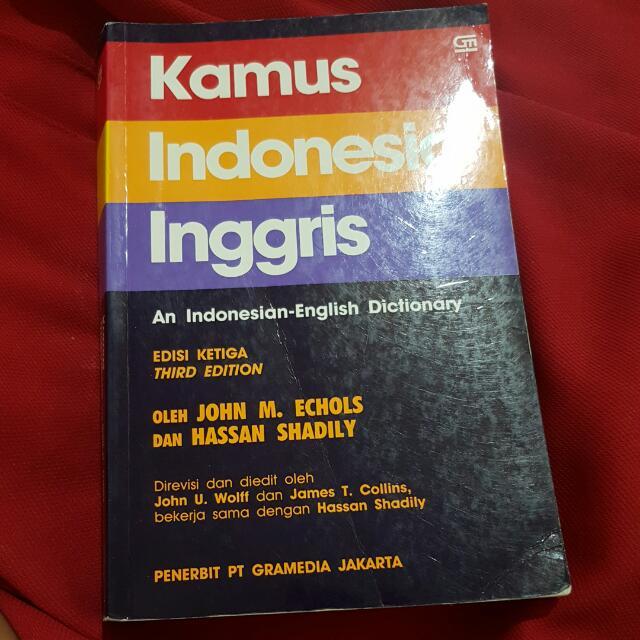 [BAYAR ONGKIR AJA] Kamus Indonesia Inggris - PT Gramedia Jakarta