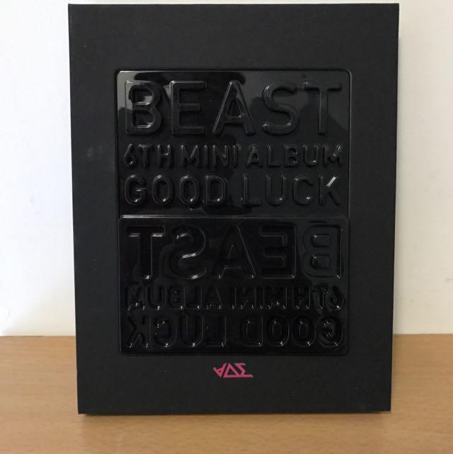 Beast 第六張迷你專輯「Good Luck」附龍俊亨小卡 面交附海報(韓國進口黑色版)