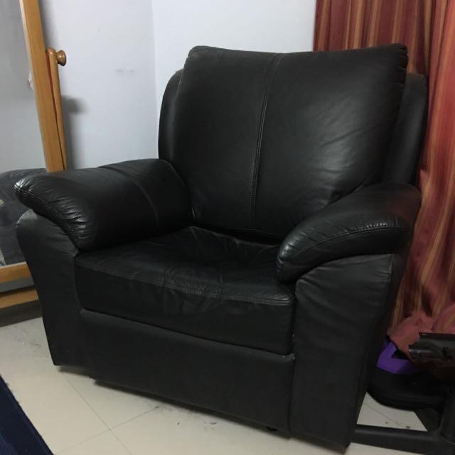 Black Armchair Sofa Barang Barang Furniture Sofas On Carousell