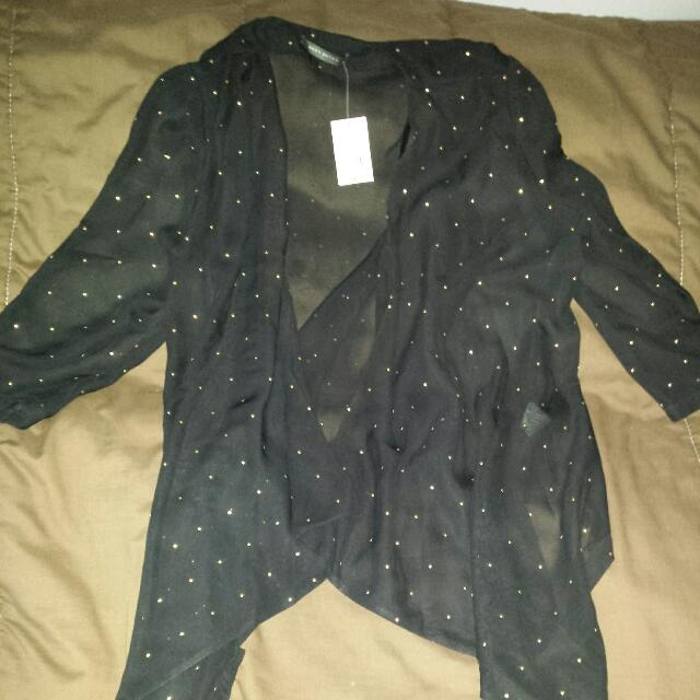 Black Cardigan Size Large Suzy Shier