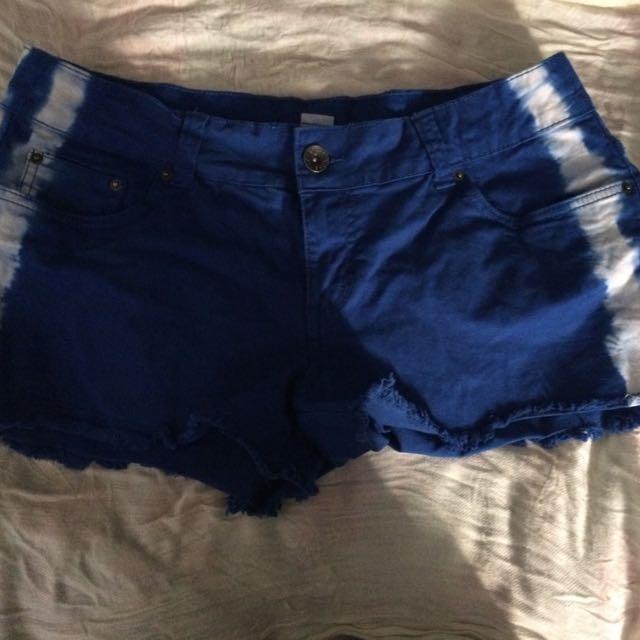 Blue W/ White Stripes Shorts