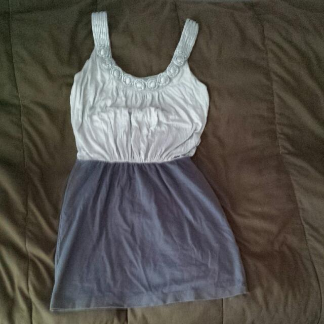 Blue/Grey Tight Dress Size Medium