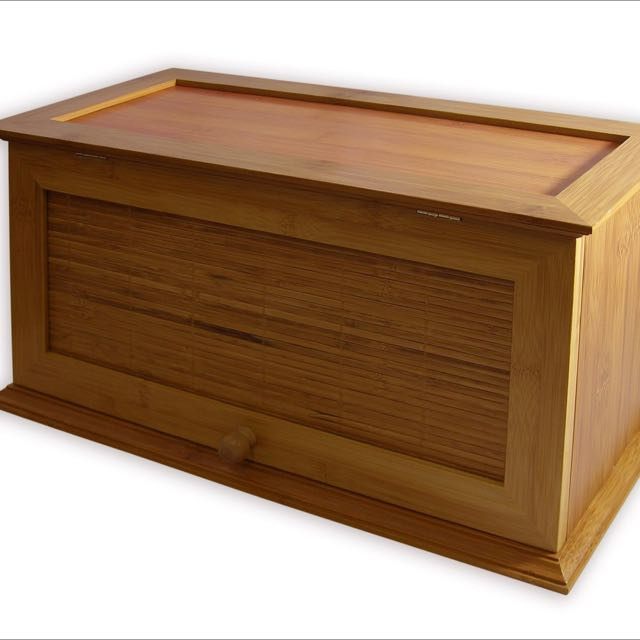Brand new, in the box Vintage Bread Box / Bread Bin - Pure Bamboo