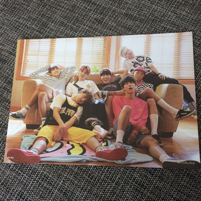 BTS Now3 Large Group Photo Card Official