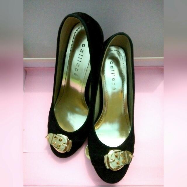 Calliope Women Heels - Black Gold