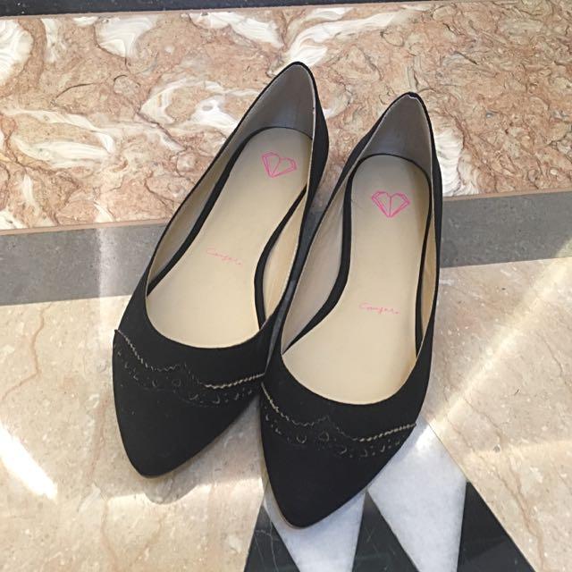 Carry Me黑色平底鞋 娃娃鞋