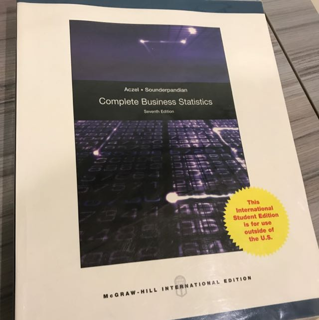 Complete Business Statistics 原文書