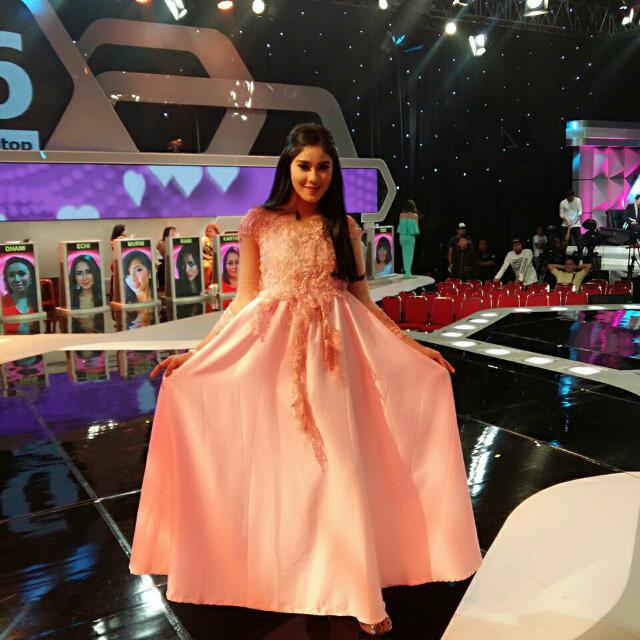 Dress Semi Kebaya Satin Red