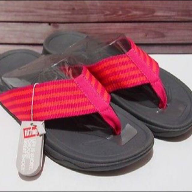 FITFLOP Surfa Bubblegum/Hot Peach Women's Sandals (US 5 and 9)