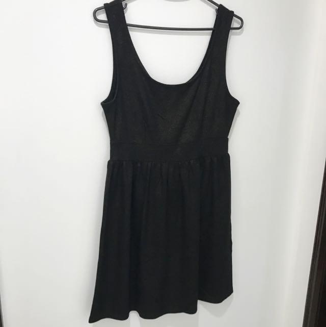 Forever21 Black Glittery Dress