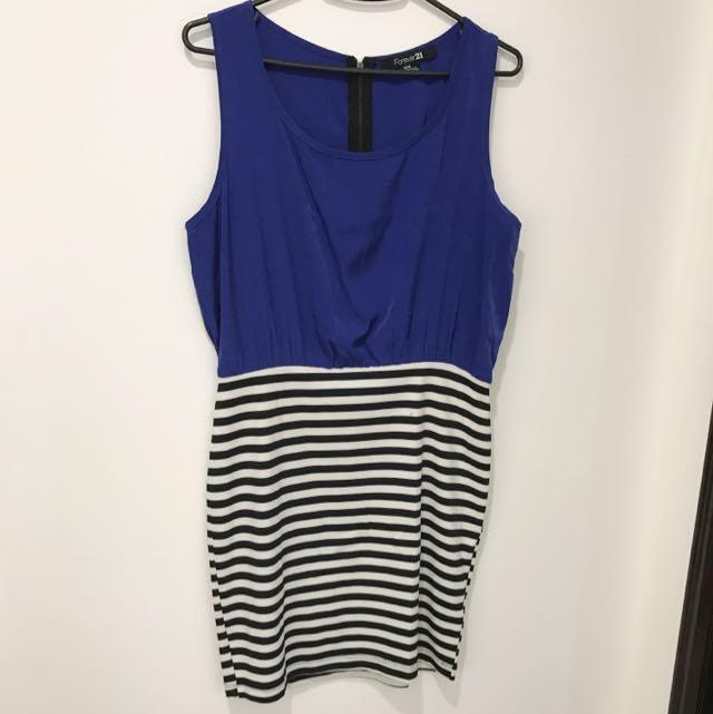 Forever21 Blue & B&W Stripes