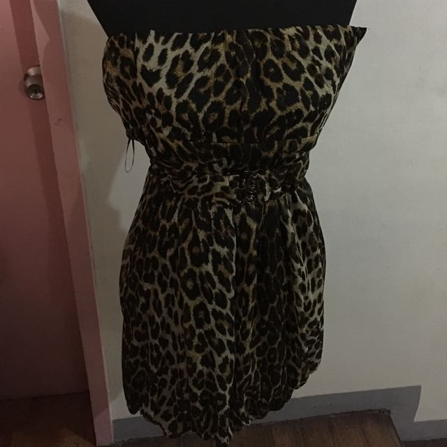 Forever21 Leopard tube Dress
