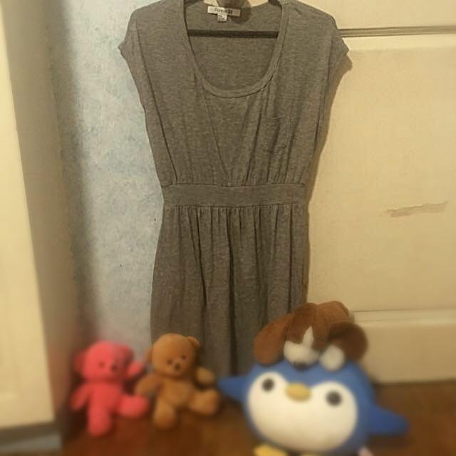 Forever 21 Light Gray Dress - Medium