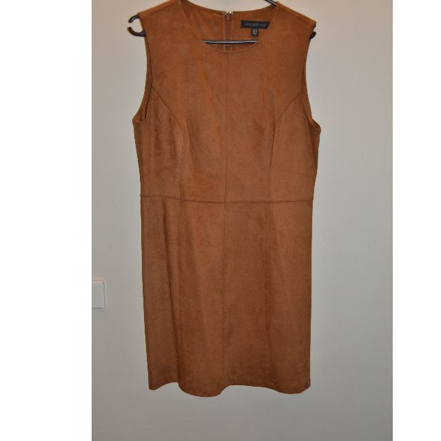 FOREVER NEW Brown Suede Dress