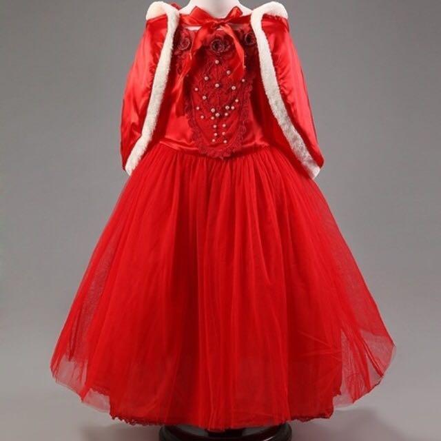 Girl's Sz8-10 Tulle/Satin Party Dress & Cape