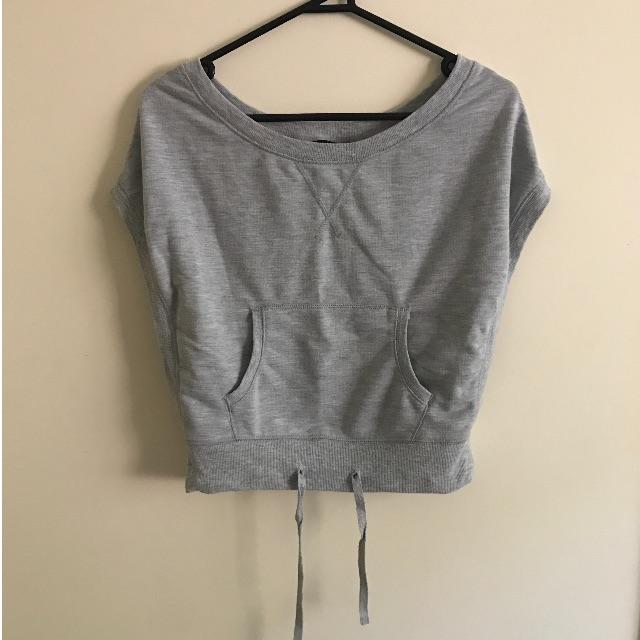 Grey Active Sweatshirt/Vest