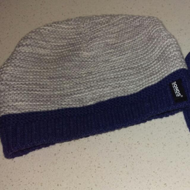 Bonds  Hat And Mittens. Sizes On Photo.