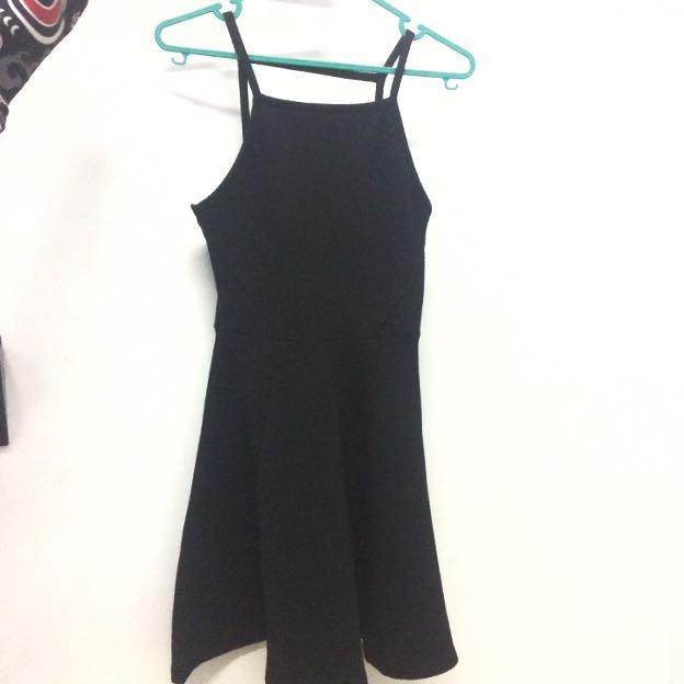 hnm divided black dress