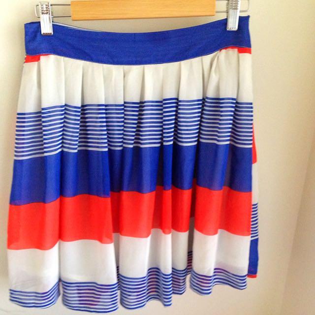 IDS Skirt Size 10 Stripe