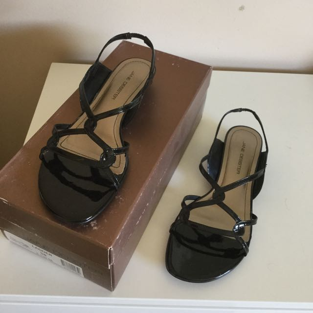 Jane Debster Black Patent Sandals
