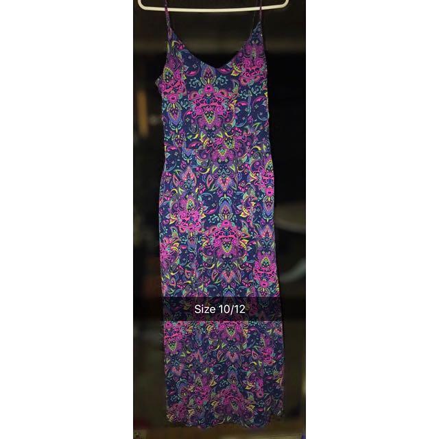 Kmart Paisley Colourful Maxi Dress