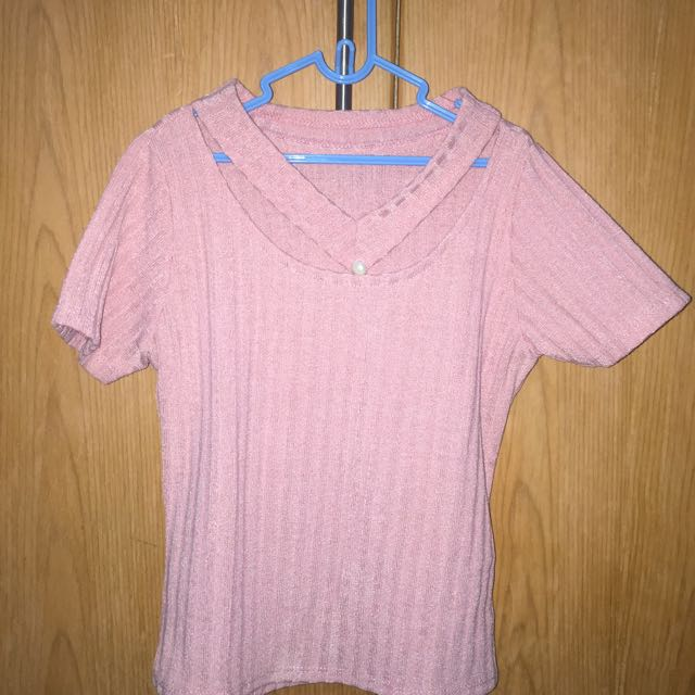 Knit Pink Nude Top