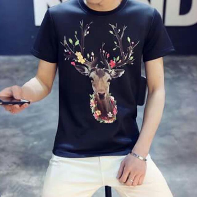 Korean Men's Wear Air Cotton Animal Print