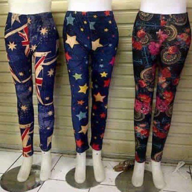 Legging Motif Dewasa Fesyen Wanita Pakaian Wanita Di Carousell