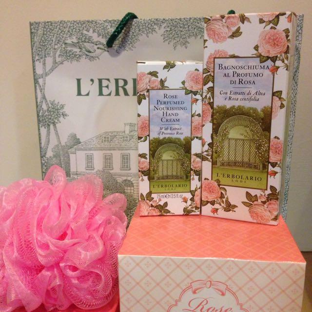 L'ERBOLARIO 玫瑰沐浴、護手禮盒組