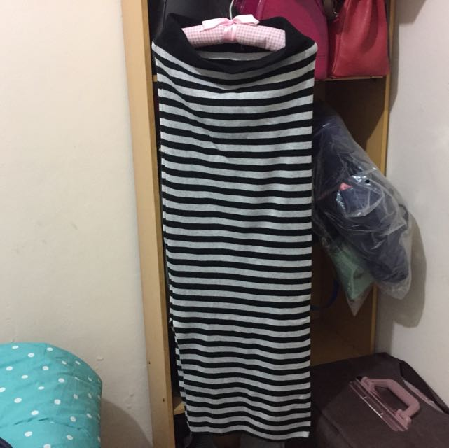 LONG STRIPE SKIRT