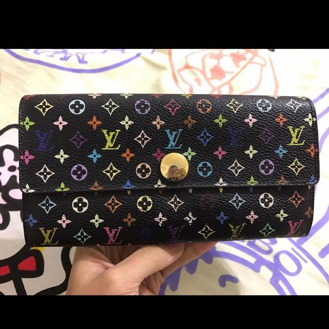 (低價出售)Louis Vuitton 黑彩長夾(M93747)