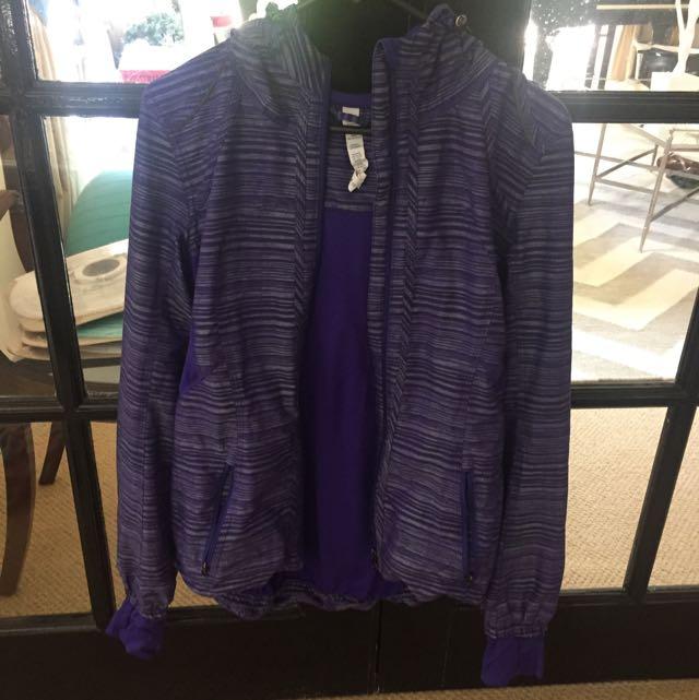 Lu Lu Lemon Purple Sports Jacket