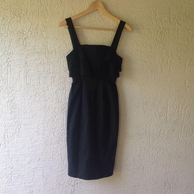 Luvalot Black Midi Dress