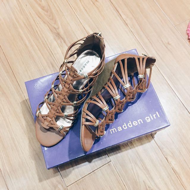 Madden Girl Hoist Cognac Paris Wedge Sandal