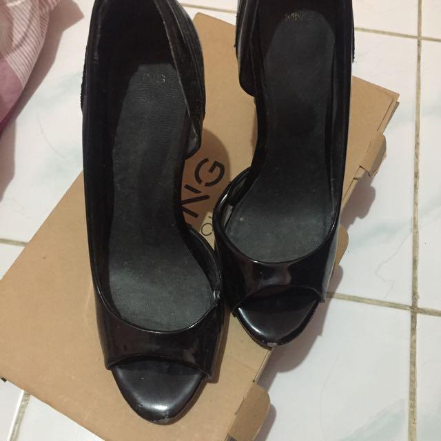 Mango Black Heels Size 38