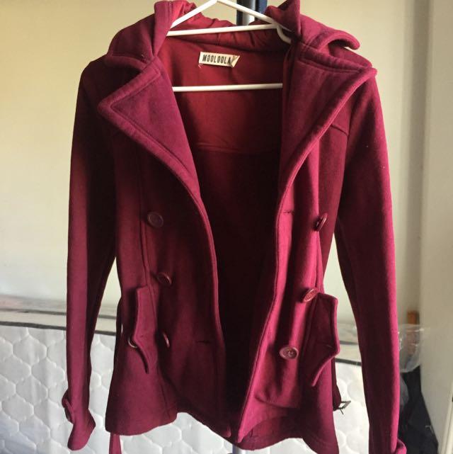 Maroon Winter Coat Jacket