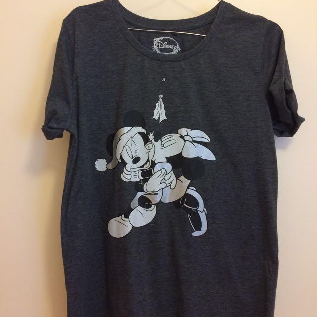 Mickey & Minnie Christmas Shirt (Small)