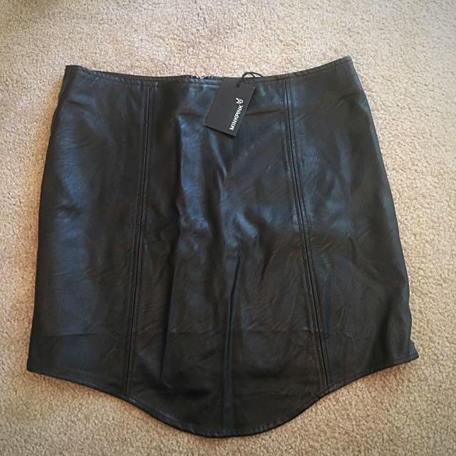 MINKPINK Black Mini Skirt