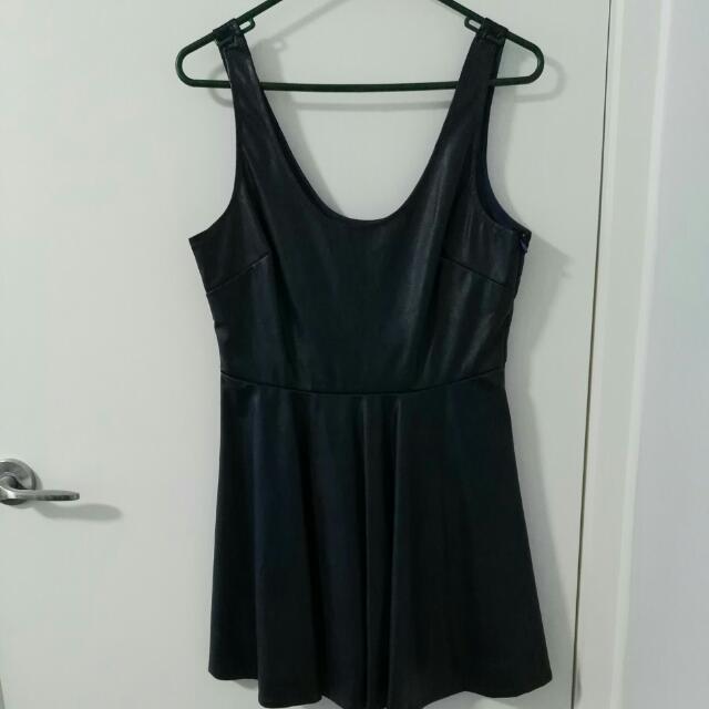 Navy Pleather Dress Size 10