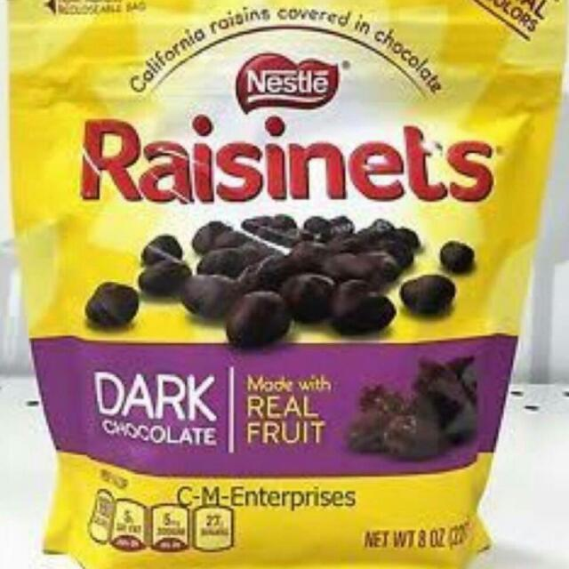 Nestle Raisinets Dark Chocolate