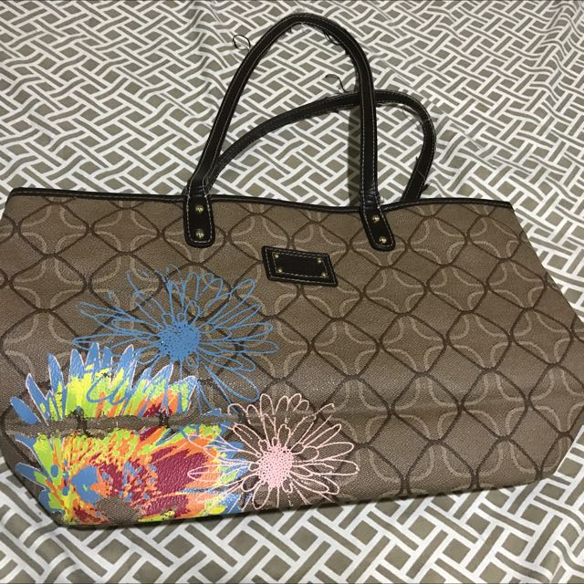 Nine West Bag (Brown W/ Print)