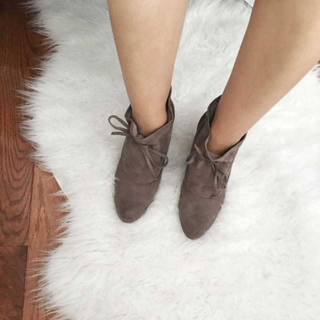 Nine West Suede Booties - Size 6.5