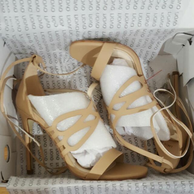 Novo Shoes - Nude Strappy Heels