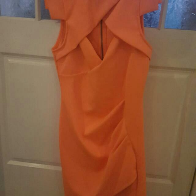 Orange One Way Dress